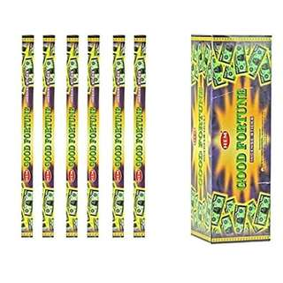 India HEM Good Fortune Incense 6 Packs X 8 Sticks