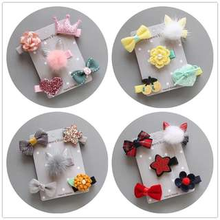 💙 PO💙NEW COLLECTION Pet Dog 🐶 & Kid 10 Colours style Hair Clip 5 pieces Design in a set with box