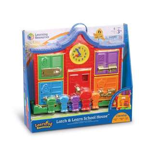 Learning Resources Latch & Learn School House, 6 Pieces