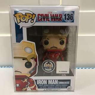 Funko Pop Iron Man unmasked bigboys