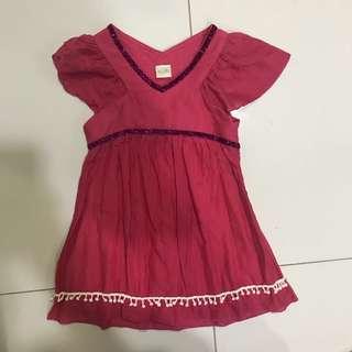 Bloom Pink Pom Pom Dress 1-3yrs