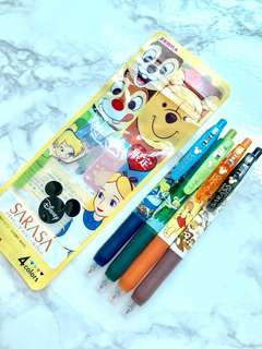 Special price for followers! Rare Japan Disney Sarasa Winnie the Pooh, Alice in Wonderland, Tinkerbelle, Chip & Dale