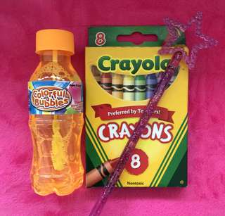 Bundle set - Crayola + Wand + Bubbles