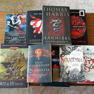 Any 3 for $12: Hannibal, Seraphina, Quicksilver, The City's Son, New Moon, City of Lost Souls, Queen of Dark Things, The Yowler Foul-Up, Dragons of a Vanished Moon