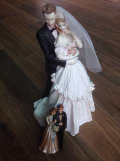 For Sale or Rent Original Vintage 60's 70's 80's Assorted Wedding Dolls Cake Toppers Collectibles Wedding Decor & Props