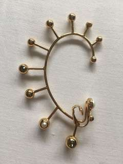 Mimco clip on earring crown