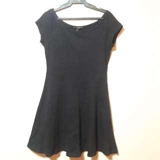 F21 Black Skater Dress