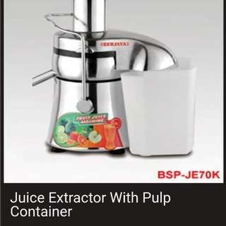 Commercial Juice Extractor With Pulp Container