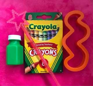 Bundle set - Crayola + Wand + Cutter + bubble