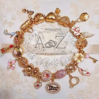 916 Gold Charms Instock
