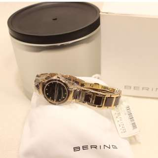 Bering Ladies Rose Gold IP High Tech Ceramic Watch