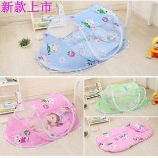 Baby mosquito net set with pillows and music