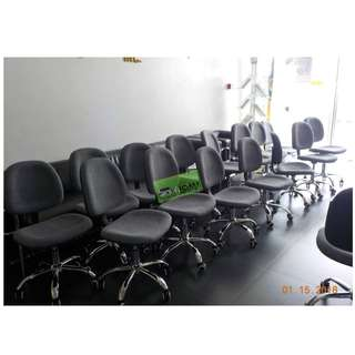 C605G CLERICAL CHAIR CHROME LEGS GRAY FABRIC--KHOMI