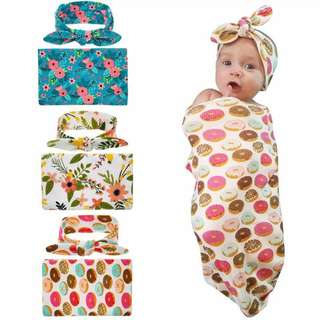 Baby safe sleeping bag with turban