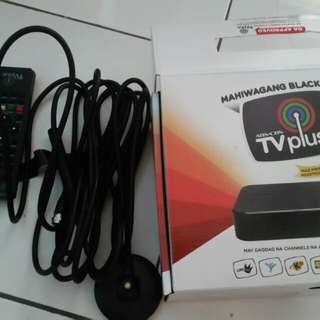 Tv plus accesories only remote antenna and power adaptor