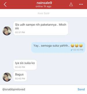 WE ARE TRUSTED!! Real Testimonial from happy customers.. Thank you for buying @snabbpreloved..