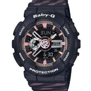BabyG Watch NEW MODEL! BA-110CH-1ADR