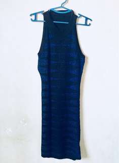 Blue Tigress Mini Dress