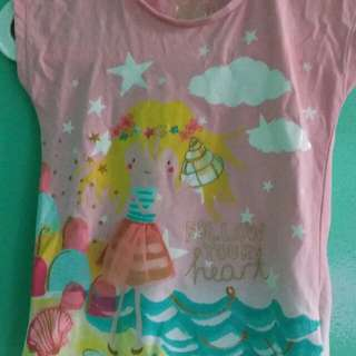 Girls mothercare pink top