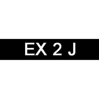 Car Number for Sale (EX 2 J)