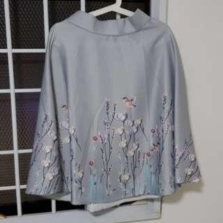 Flowers & birds printed skirt