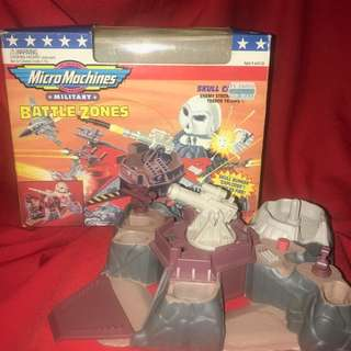 Battlezones Skull Canyon Micro Machines Vintage early 1990s Galoob BZ1