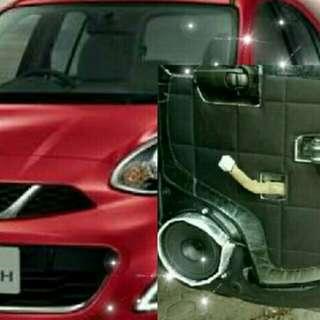 Peredam suara dan pelindung pintu mobil Nissan March