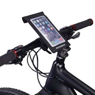 360°Rotation Phone Mount Waterproof Bicycle Handlebar Bag for Cell Phone Pouch for Cycling Diving Rafting RockBros