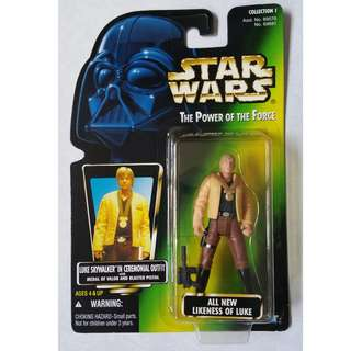 Star Wars Luke in Ceremonial Outfit Kenner POTF Japan Import Power of the Force