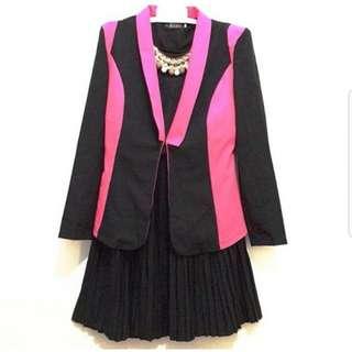 Blazer pink hitam