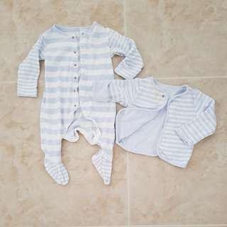 PL Baby footed romper and jacket 3-6mth