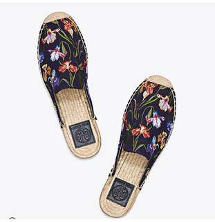 Tory Burch Max Embroidered Espadrilles Slides. Size5,6,7,8,9