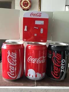 Coca Cola 大儲物鐵罐(4個)