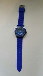 Blue plastic watch