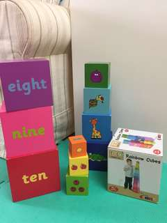 Wooden Stacking Toy Stacking Cubes