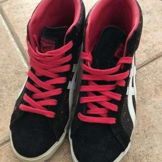 Onitsuka Tiger Sneaker Pink Black Women's 6 Ad type: Free