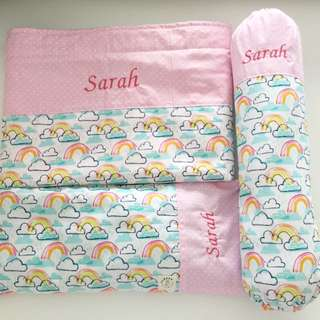 Fluffyandco Hand Made baby bedding set