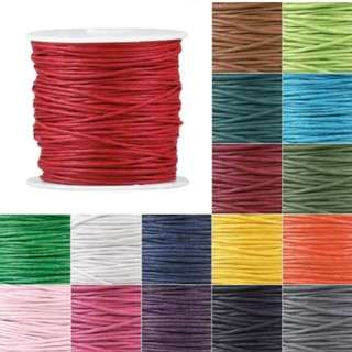 2mm waxed cotton cords