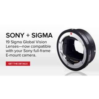 SigmaMC-11 Mount Converter/Lens Adapter (Sigma EF-Mount Lenses to Sony E)