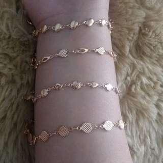 Rosegold Bracelet (set of 4)