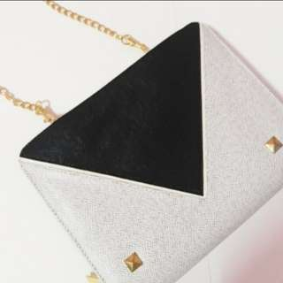 White and Black Evening Bag