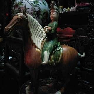 唐代三彩骑马俑86218574