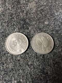 Singapore SGD 50cent Coin