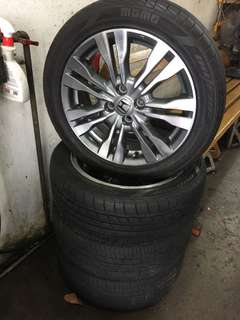"Rim Honda City TMO 16"" with tires"