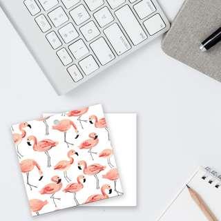 Flamingo Art Card GIft Tag Patter Design