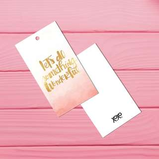Beautiful motivation quote bookmark gift tag - Let's do something wonderful