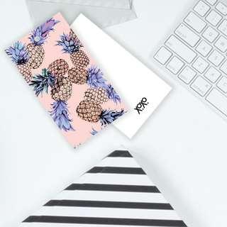 Pink Huatt Gift Label Pineapple Art  Tag Card