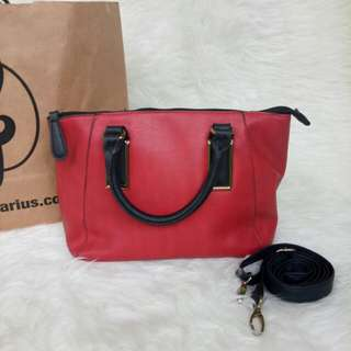 Newlook gold red bag