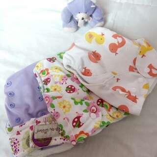 Diaper clothes 3pcs bundle