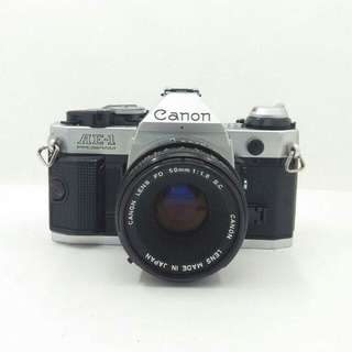 Canon AE-1 Program with FD 50mm F1.8 S.C